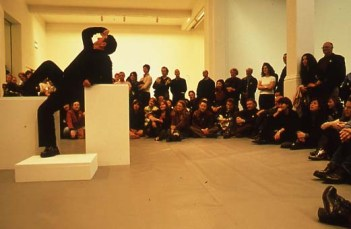 Re-staging of historical performances from Short History of Performance I, 2002 at Whitechapel Gallery. Image Courtesy and copyright: Whitechapel Gallery Archive