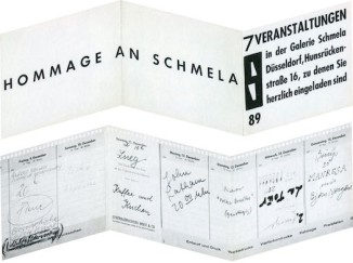 Invitation from Hommage an Schmela: 7 Veranstaltungen (Homage to Schmela: 7 Events). December 9 – 15, 1966. Galerie Schmela, Düsseldorf. Estate Konrad Lueg.